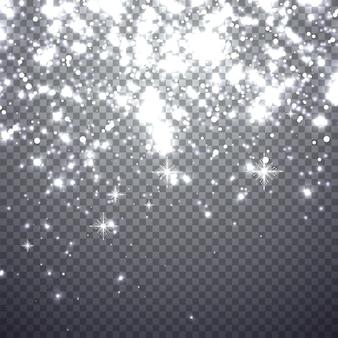雪が降るクリスマス。透明な背景に分離されたイラスト。あなたのデザインのグラフィックコンセプト