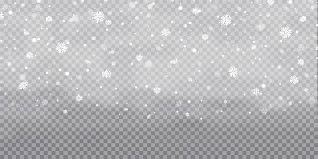 Falling christmas snow. snowflakes, heavy snowfall.