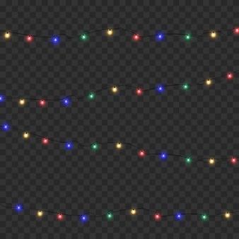 떨어지는 크리스마스 눈. 투명 한 배경에 고립 된 눈송이입니다. 폭설, 다른 모양과 형태의 눈송이 벡터.