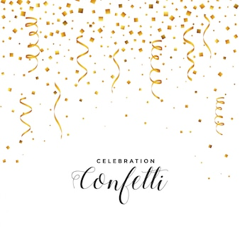 Falling confetti and serpentine background