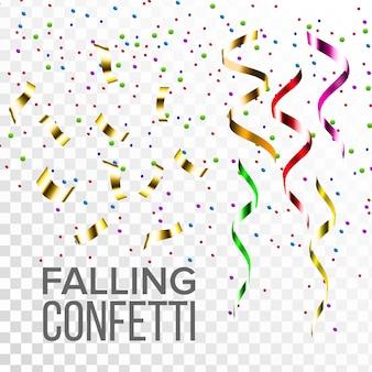 Falling confetti set