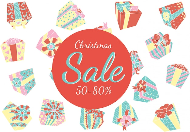 Falling gift boxes christmas promo
