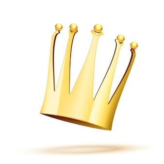Falling gold crown