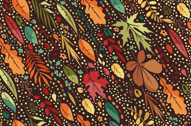 떨어지는 잎 원활한 패턴
