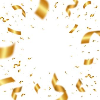 떨어지는 빛나는 황금 색종이