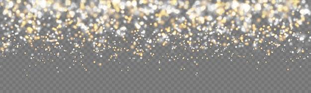 落ちる光沢のある輝く黄金の輝き