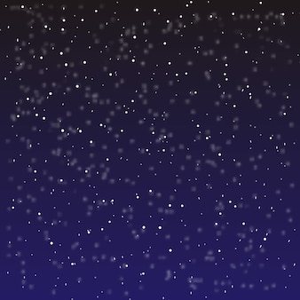 Falling snow background.  illustration with snowflakes. winter snowing sky.