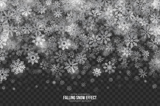 Falling snow border 3d effect