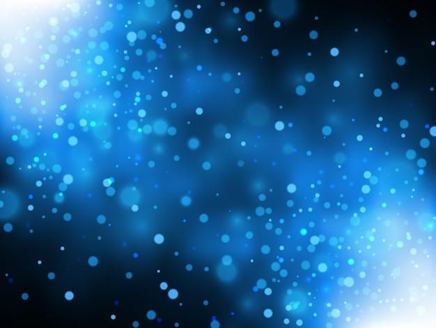 雪が降るクリスマスと新年の背景