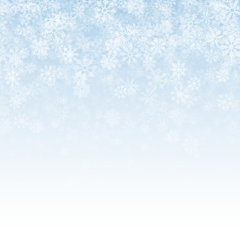 Falling snow effect light abstract background