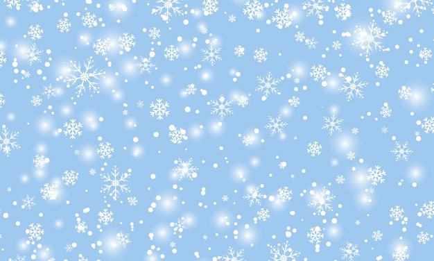 雪が降る。図。白い雪。冬の青い空。クリスマスのテクスチャです。雪の秋の背景。