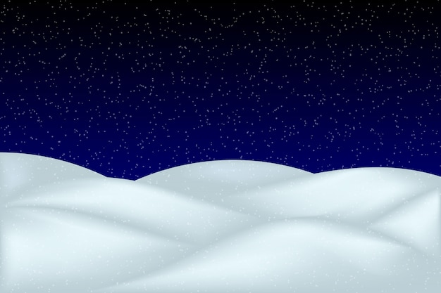 Falling snow landscape isolated