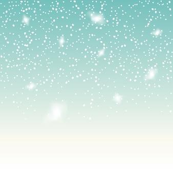 파란색 바탕에 떨어지는 눈. 크리스마스 눈송이 배경. 흰 눈 장식 절연입니다.