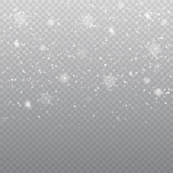 Falling snow overlay background