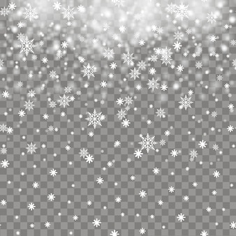 Falling snow or snowflakes for christmas or new year. vector