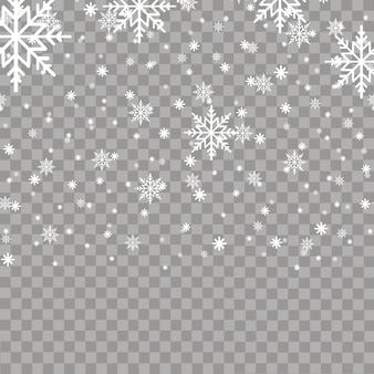 Falling snow or snowflakes. vector.
