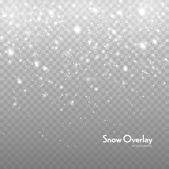 Falling snow vector background. snowfall