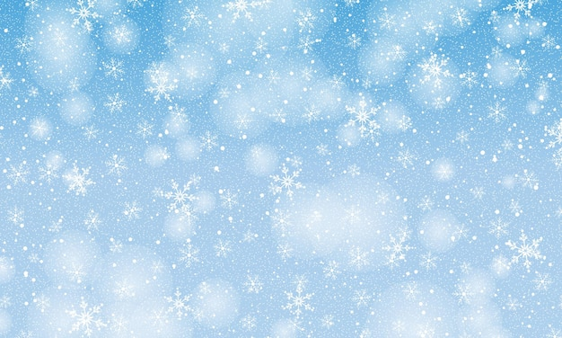 Falling snow. vector illustration with snowflakes. winter sky. christmas texture. sparkle snow background.