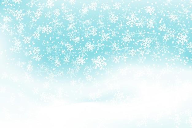 Falling snow. winter blue sky. christmas texture. sparkle snow background.