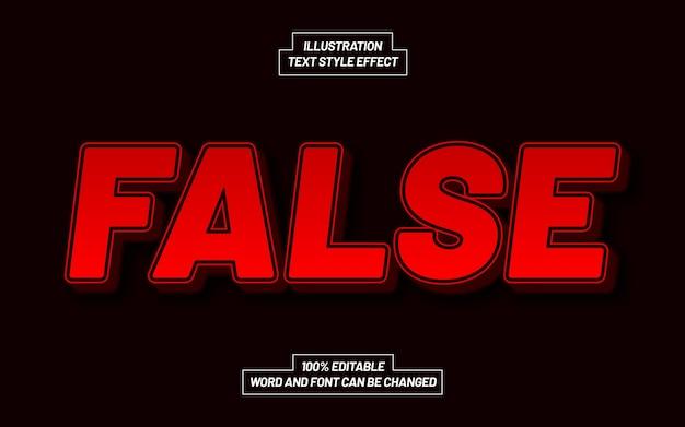 False text style effect