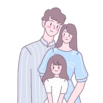 가족은 사랑, 재미, 따뜻함 속에서 함께 산다.