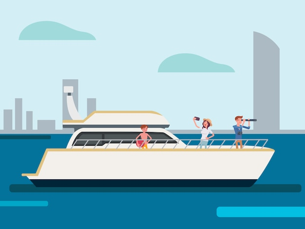 Families on vacation on private cruises