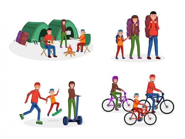 Family activities flat set