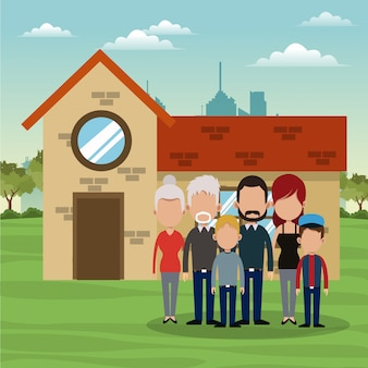 가족과 집 부동산 만화
