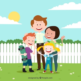 Family background design Free Vector