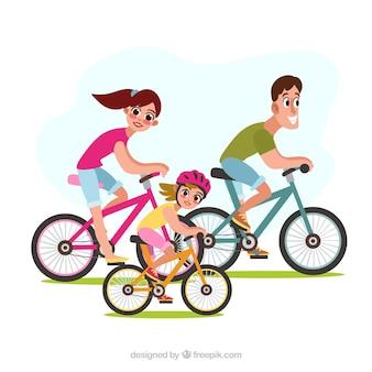 Семейный фон, занимающийся различными видами деятельности