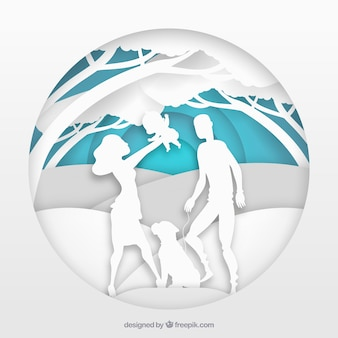 Family background in paper style