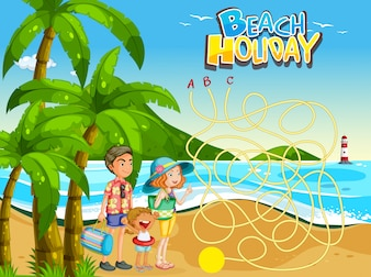Family beach game template