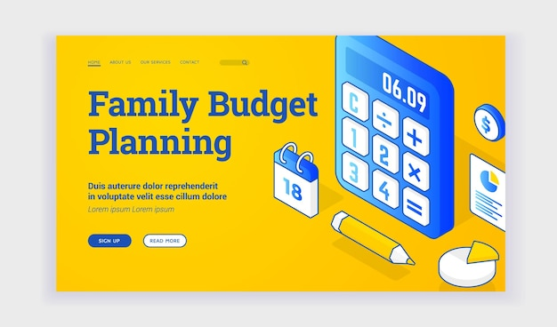 Family budget planning website