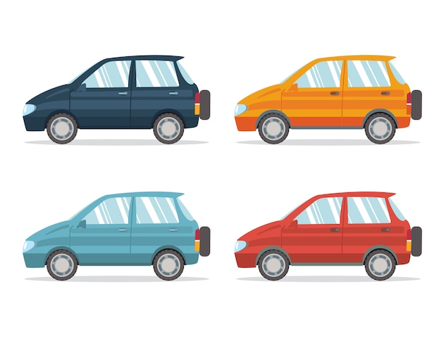 Family car simplified illustration