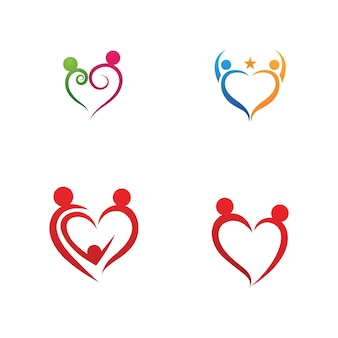 Family care logo and symbol template vector