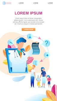 Family communicate pediatrician treatment child