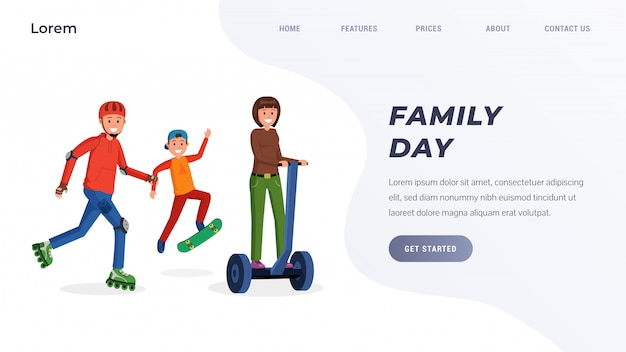 Family day landing page concept