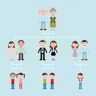 Family design over blue  background vector illustration