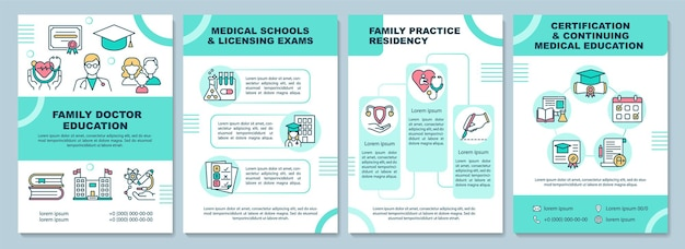 Family doctor education brochure template. medical school