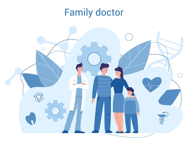 Family doctor and generel healthcare concept