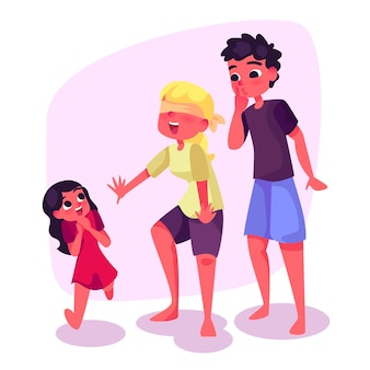 Family enjoying time together concept