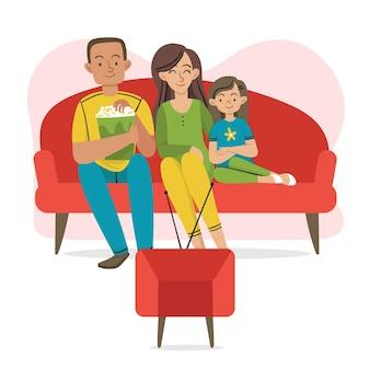 가족과 함께 시간을 즐기는 개념