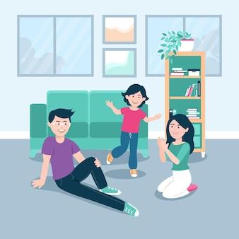 Family enjoying time together