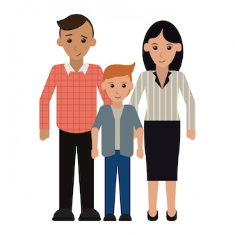 Family executive parents with son