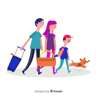 Family going on a trip