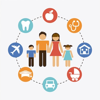 Family graphic design  vector illustration