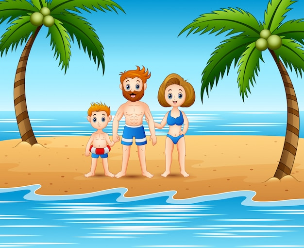 Family having fun in summer holiday