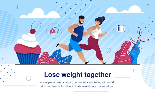 Family healthy and active lifestyle vector banner