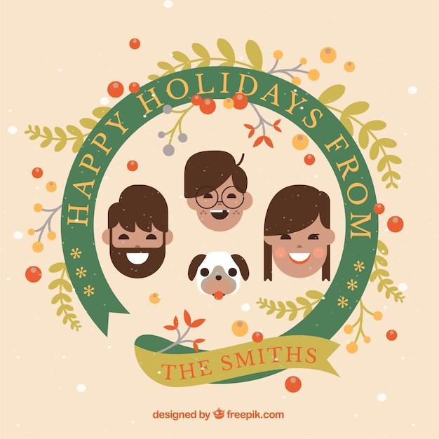 가족 휴가 인사말 카드