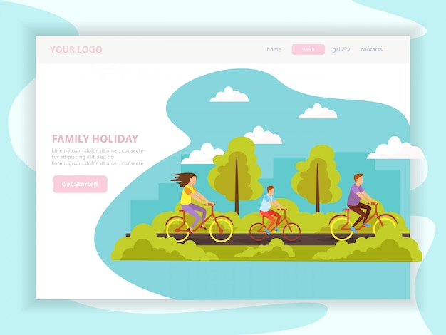 Family holiday landing page